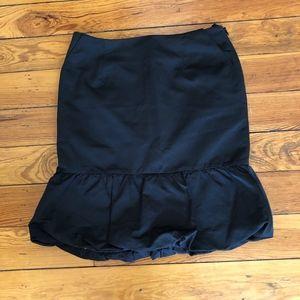 Club Monaco Black Bubble Knee-length skirt